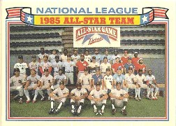 1986 Topps Glossy All-Stars Gray Stock Baseball Cards     022      NL Team Photo/Nolan Ryan/Dwight Gooden/Dave Parker/Pete Rose/Ozzie Smith/Dale Murphy/Steve Garvey/Darryl Strawberry/Ryne Sandberg